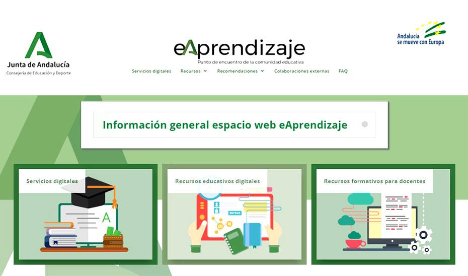 La web eAprendizaje, nuevo espacio para facilitar la continuidad del proceso educativo durante la alerta