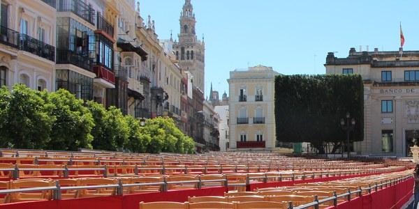 El Ayuntamiento ofrece 232 plazas diarias en sillas y palcos de la Carrera Oficial destinadas a personas con diversidad funcional y sus acompañantes para la Semana Santa de 2020