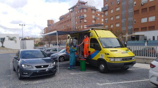 Coronavirus en Sevilla: recogida rápida de muestras en la capital, el Aljarafe y Osuna