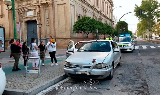 En pleno confinamiento, detienen un coche en Nervión con ocho pasajeros