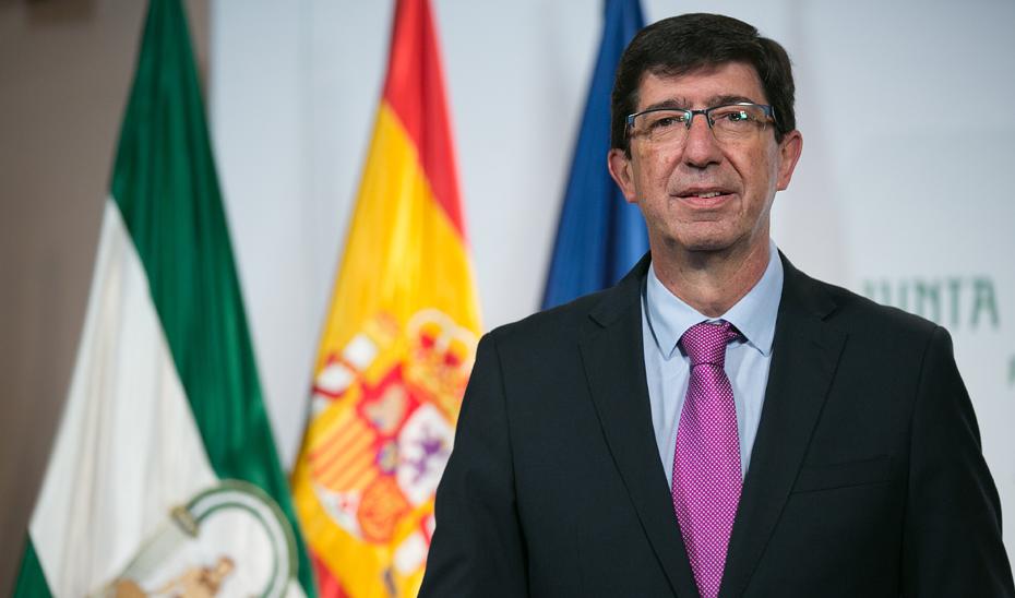Juan Marín: «Andalucía está preparada para afrontar el aumento de contagios por coronavirus»