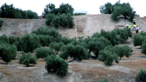 Arqueólogos de la Universidad de Jaén hallan bastiones de la muralla de la ciudad que asedió Escipión