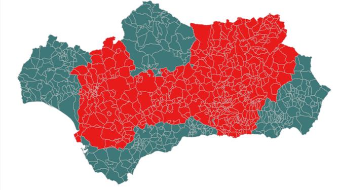 Listado completo de los municipios de Andalucía con cierre perimetral por el coronavirus