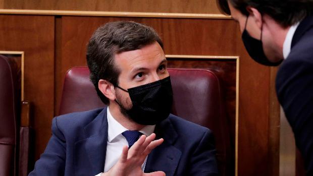 Casado confirma el «no» del PP a la moción de censura de Vox y reivindica el espacio de centro-derecha