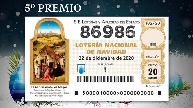 Los quintos premios de la Lotería de Navidad 2020
