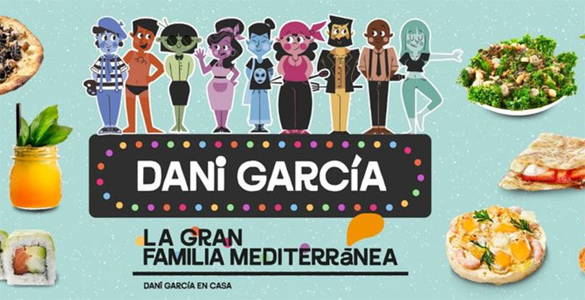 El cocinero Dani García llega en Sevilla con su restaurante de comida sólo a domicilio La Gran Familia Mediterránea