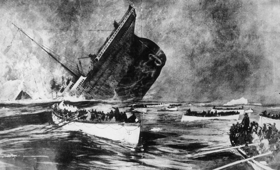 El Titanic se hunde en el Atlántico