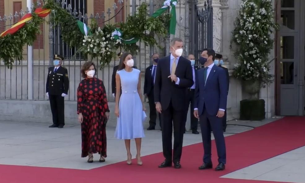 El Rey recibe la Medalla de Honor de Andalucía «como un abrazo de todos los andaluces»