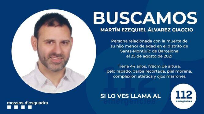Piden la colaboración ciudadana para localizar al hombre acusado de asesinar a su hijo en Barcelona