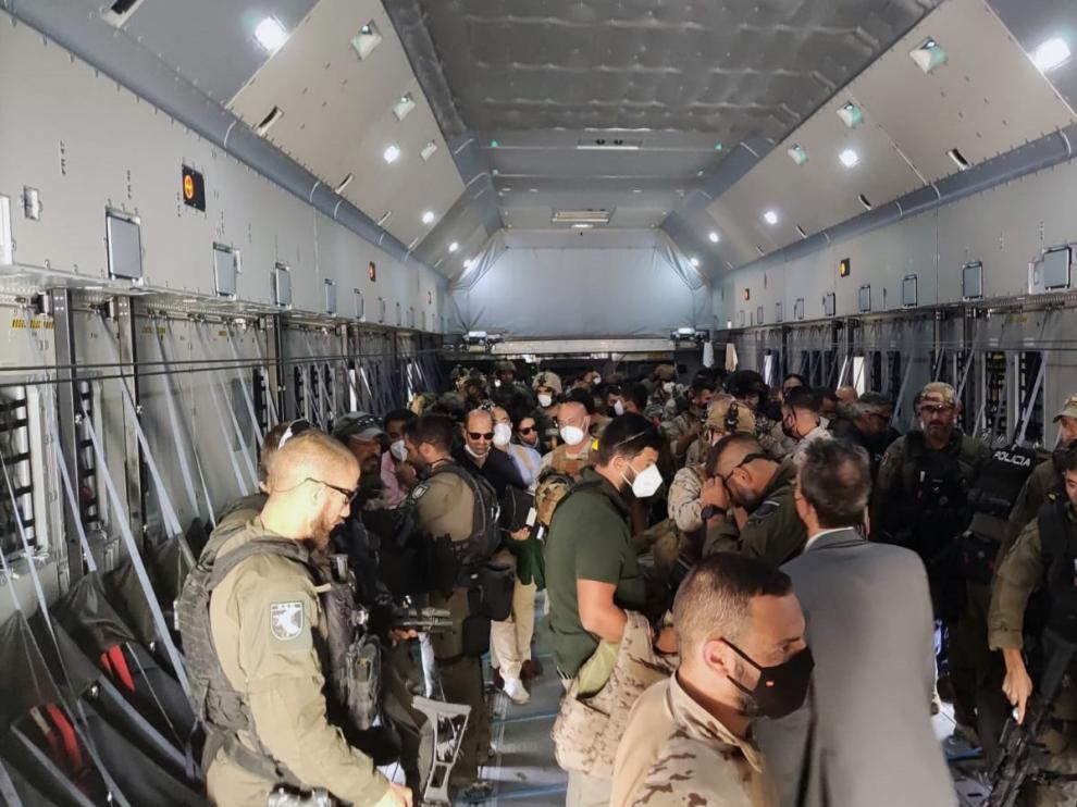 España da por terminada la evacuación de personas de Afganistán