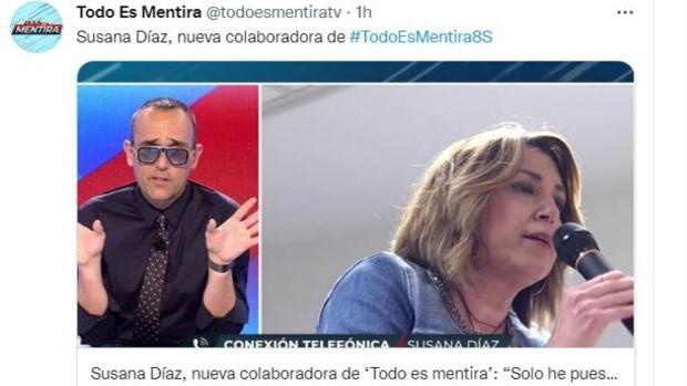 El pluriempleo de Susana Díaz: diputada autonómica, senadora y tertuliana en dos programas de televisión
